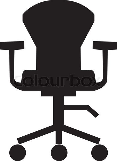 Office Desk Icon Swivel Chair Icon Furniture Icon Office Room Stock Vector Colourbox