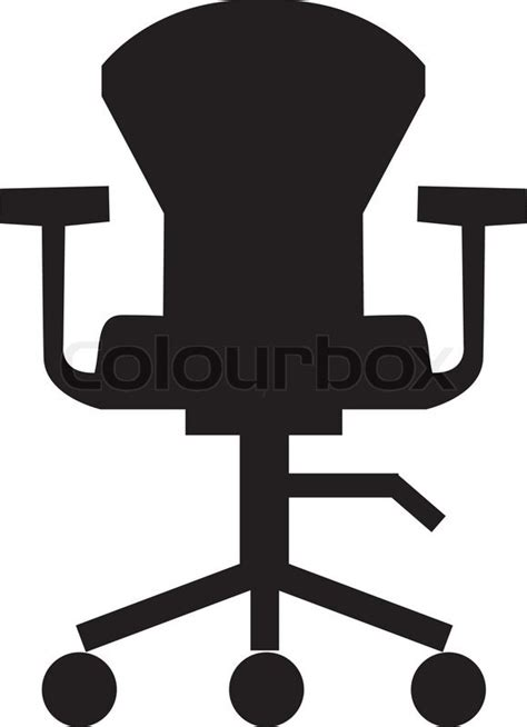 Swivel chair icon furniture icon office room stock vector colourbox