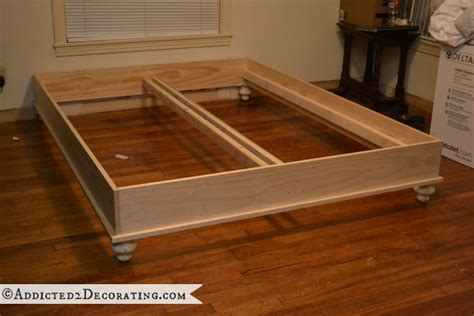 How To Build A Wood Bed Frame Diy Stained Wood Raised Platform Bed Frame Part 1