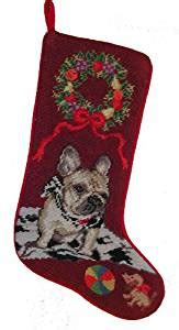 bulldog stocking holders bulldog needlepoint