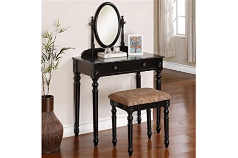 Stores Like Vanity by Delightful Black Vanity Set With Oval Mirror And Matching