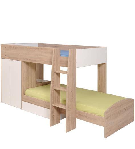 Oak Mid Sleeper by Buy Mcryan Midsleeper Bunk Bed In Oak White Finish By