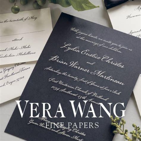 vera wang wedding invitation vera wang papers wedding invitations new york new