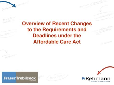 Of Tulsa Jd Mba Degree Requirements by Affordable Care Act Recent Changes Deadlines