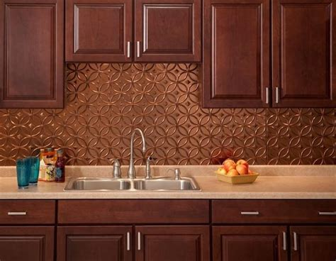 copper backsplash kitchen stunning copper backsplash for modern kitchens decozilla