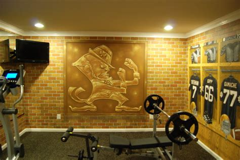 notre dame football weight room notre dame football locker room mural by tom of wow effects in virginia traditional