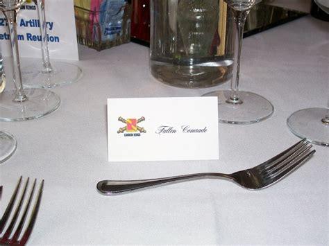 fallen comrade table fallen comrade table place setting