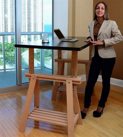 diy sit stand desk plans 15 diy computer desk ideas tutorials for home office