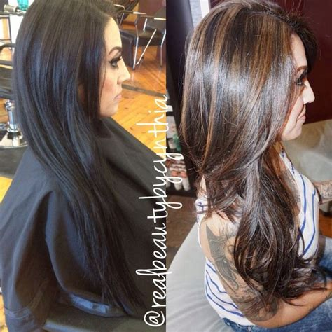 diy haircut before and after balayage for black hair google search hair pinterest