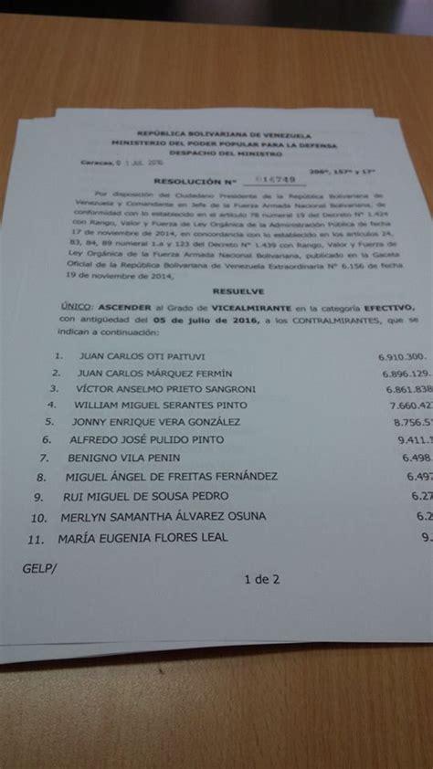 listado completo de ascensos 2016 listado de ascensos de vicealmirantes 2016