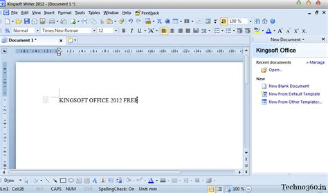 Microsoft Office 2012 by Software Promotion Kingsoft Office 2012 Free