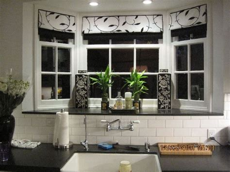 kitchen bay window decorating ideas home design
