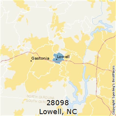 zip code map gastonia nc best places to live in lowell zip 28098 north carolina