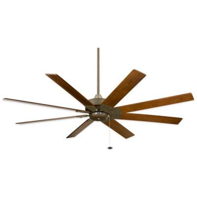 fanimation levon 63 inch brushed nickel ceiling fan buy brushed nickel fan with white blades from bed bath