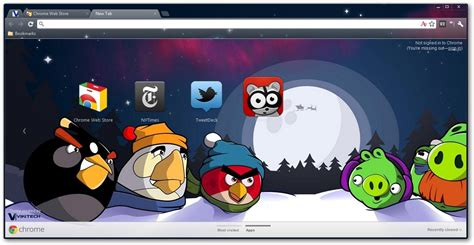 google themes video angry birds google chrome themes