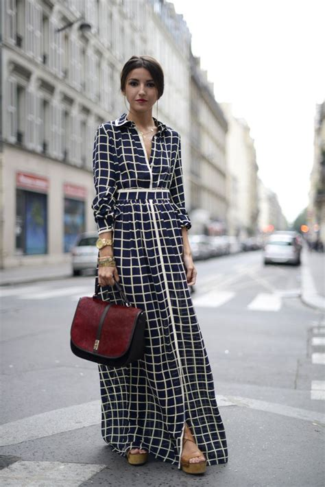 grid pattern outfit love this grid pattern maxi dress for fall picture it