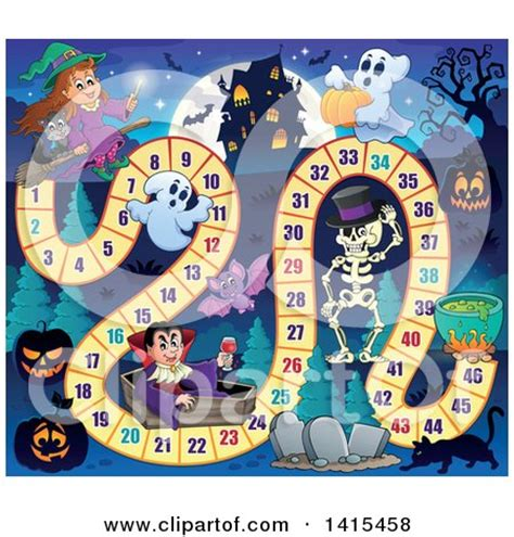 home design board games clipart of a haunted house and halloween characters board