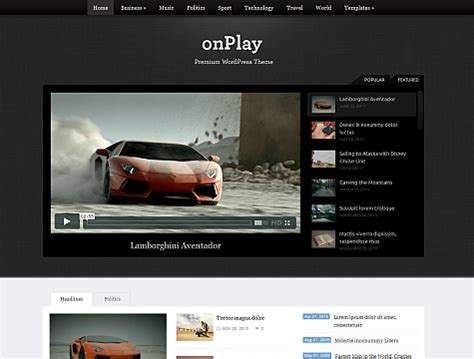 Onplay Wpoven Blog Web Tv Template