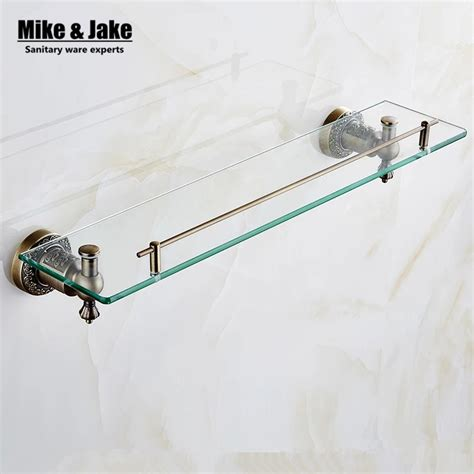 Brass Bathroom Shelves Popular Glass Shower Shelf Buy Cheap Glass Shower Shelf Lots From China Glass Shower Shelf