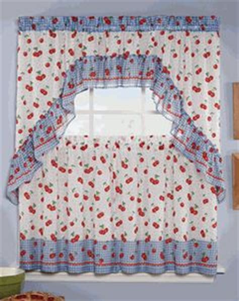 Cherry Kitchen Curtains Cherry Kitchen Curtains Pin By Janay Smith On Cherry Everything White Cherry Embroidered