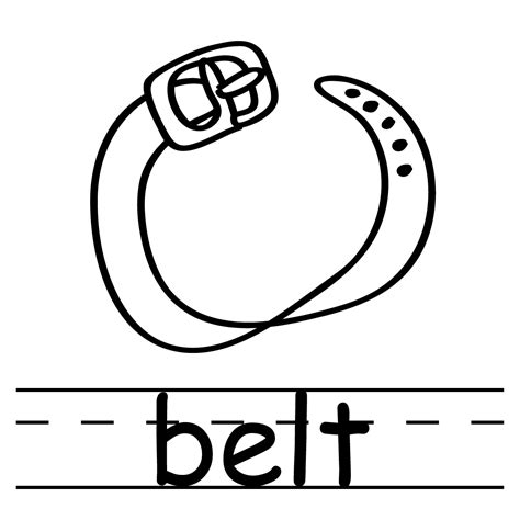 Clip Art Basic Words Banana Coloring Page Abcteach Belt Coloring Pages