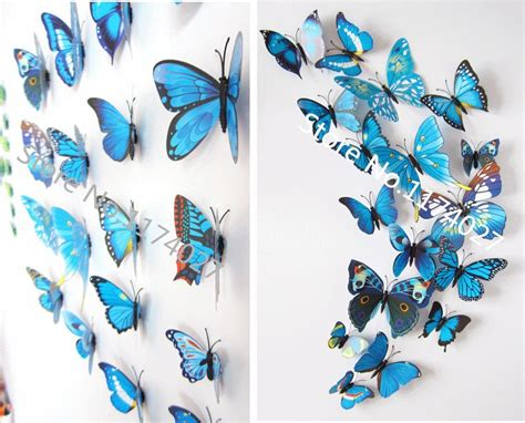 your supermart 12pcs 3d butterfly 12 pcs lot pvc 3d diy butterfly wall stickers home decor