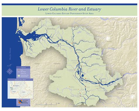 columbia river map study area map the lower columbia estuary partnership