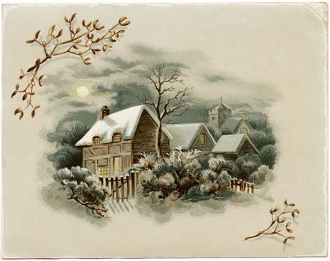 images of vintage christmas scenes winter scene victorian card free download old design