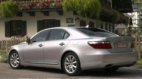 lexus metallic lexus ls 460 pose in silver wallpaper