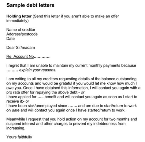 credit card settlement letter format best template
