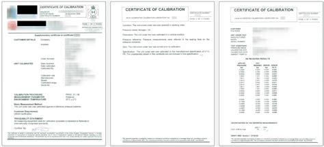 pressure calibration certificate template pressure calibration certificate template ukas
