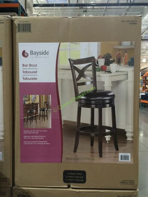 Bayside Swivel Bar Stool by Costco 818177 Bayside Furnishings Era Swivel Barstool Box