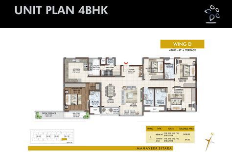 Flat Plan 4 bhk duplex apartments flats for sale in south bangalore