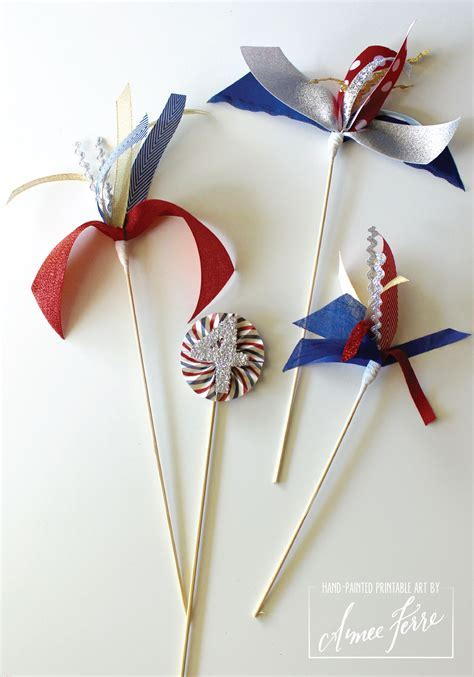 Ribbon Fireworks Centerpiece: A easy DIY