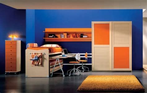 blue and orange bedroom ideas color nadinechicken