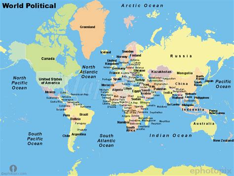 world map with cities world major countries map countries of the world