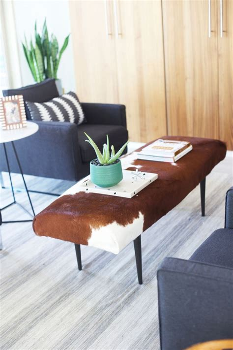 17 best ideas about cowhide ottoman on cow