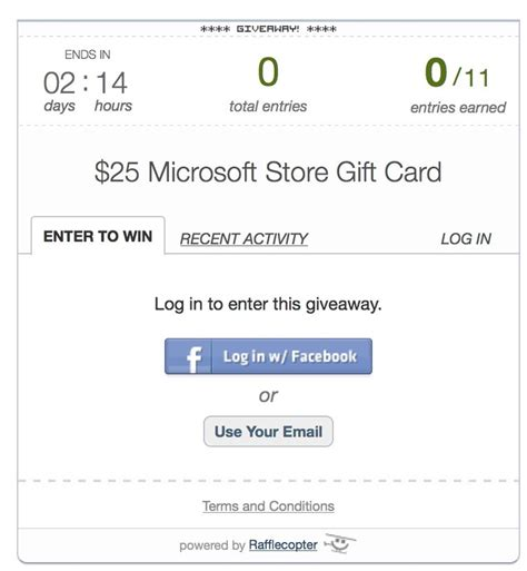 Microsoft Store 25 Gift Card - win a 25 microsoft store gift card very easy contest and ends on memorial day