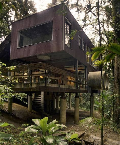 tropical house in the jungle