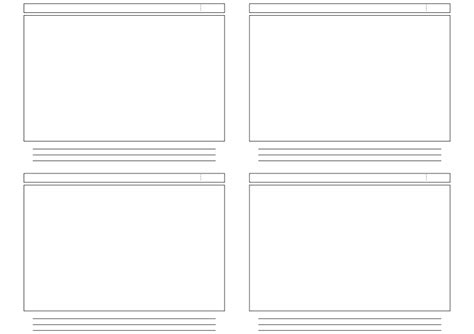 stoeyboard template 4 panel by philman401 on deviantart