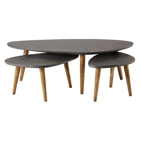 cleveland coffee table 3 wooden coffee tables in grey w 50cm 120cm cleveland