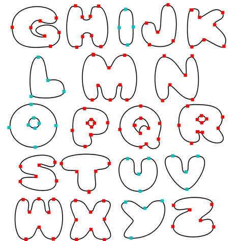 printable bubble letters for free bubble letter stencils 2010 printable bubble letters