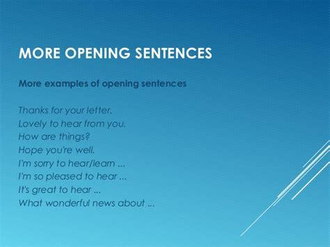 Official Letter Opening Sentence Informal Letter M Eijk