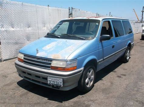 plymouth grand voyager 1993 gray how to fix 1993 plymouth grand voyager engine rpm going find used 1993 plymouth voyager no reserve in orange california united states