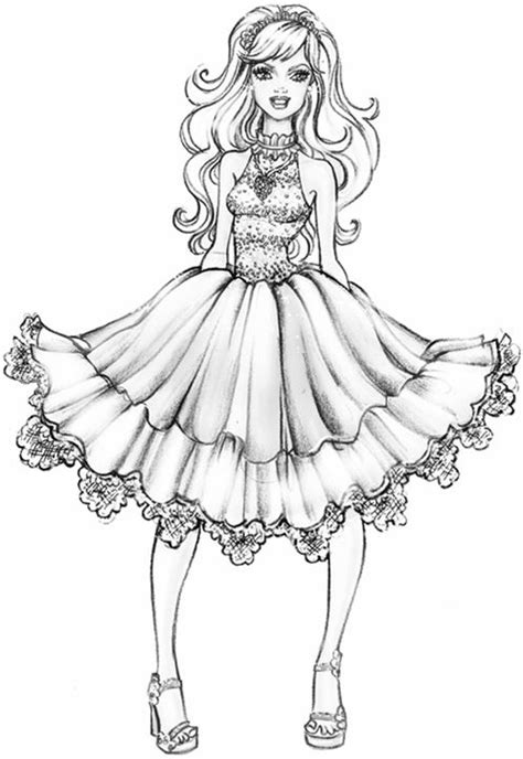 coloring pages for adults fashion 25 best ideas about barbie coloring pages on pinterest