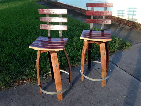 Wine Stave Bar Stools by Wine Stave Bar Stool