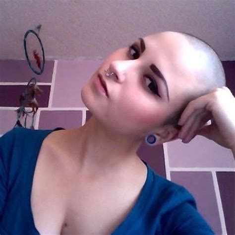 after girls headshave 550 best bald women touching their heads images on