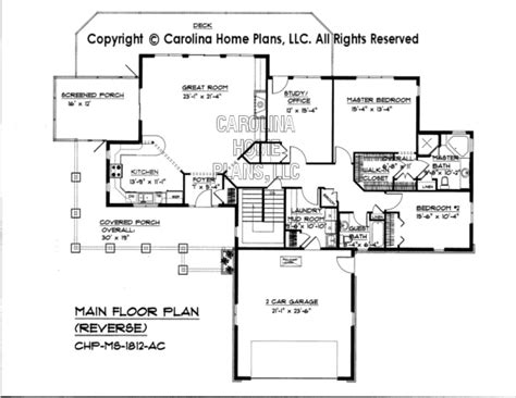 reverse floor plan mid sized house plans house plans