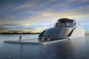 luxury yacht portable pool safe deep ocean swimming