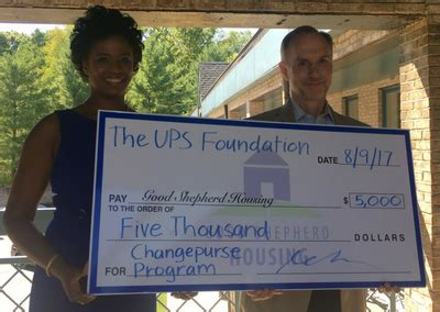 good shepherd housing good shepherd housing receives 5 000 grant from the ups foundation